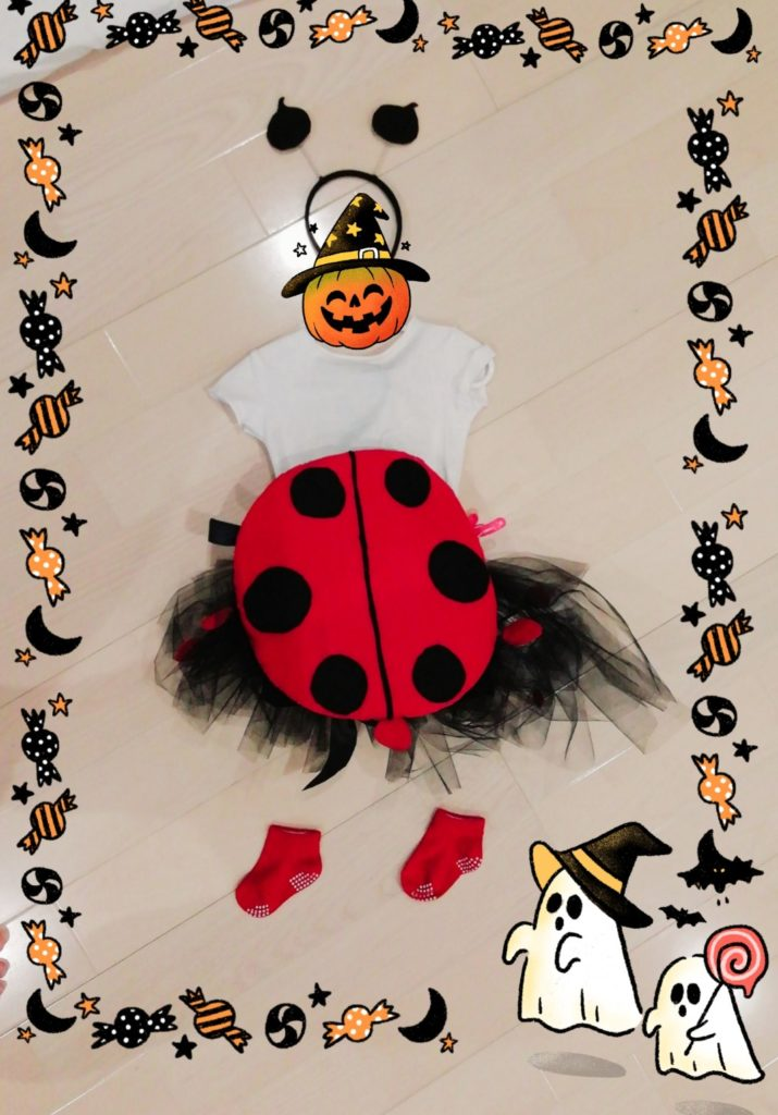 halloweenてんとう虫