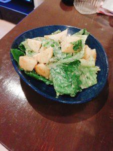カレー味のロメインレタスサラダ