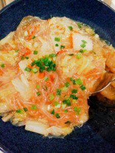 白菜と春雨の中華丼