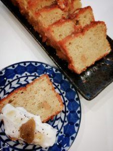 ルバーブジャムのパウンドケーキ