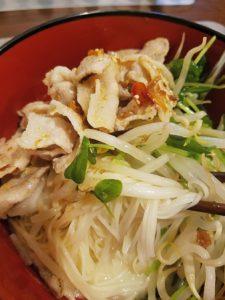 豚しゃぶの豆乳素麺