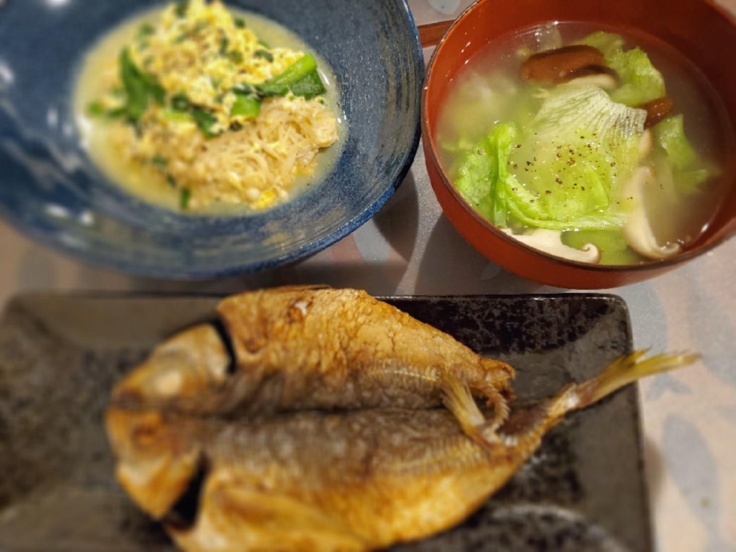 レタスと生姜のとろみスープ