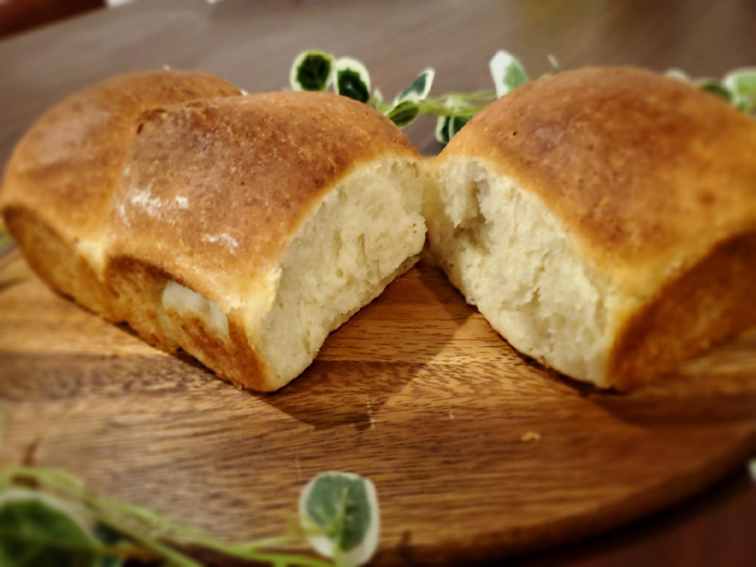 捏ねないde時短食パン
