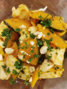 かぼちゃと鶏ムネ肉のハニーソテー