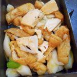 豆腐とネギの簡単めんつゆ煮
