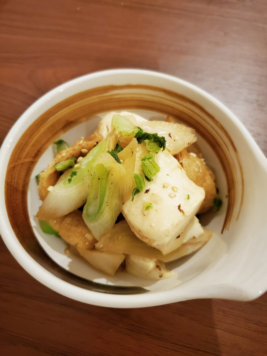 めんつゆで簡単!豆腐とネギのめんつゆ煮