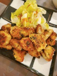 鶏ムネ肉のかりっとカレーパン粉焼き